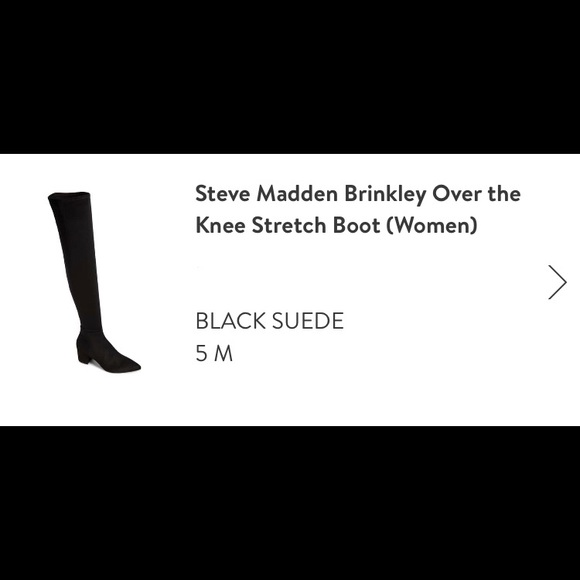 cd82d8db61a Steve Madden Brinkley over the knee stretch boots.  M 5c488a52aaa5b8dd8e916d0f